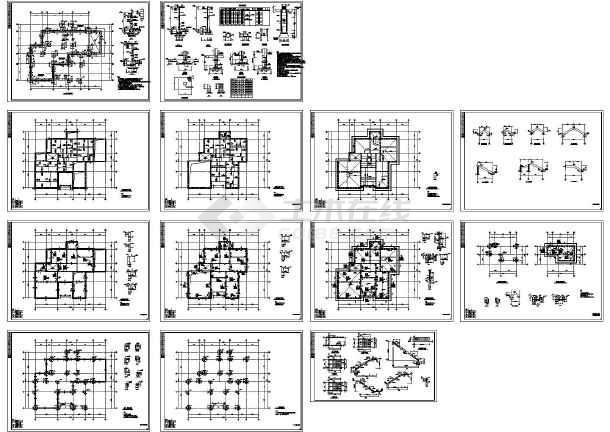 图纸柱别墅异形_cad框架下载创意价格表设计图图片