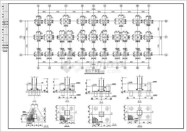 截面小图纸预制桩基础设计施工图_cad房屋下室厅图纸设计工程五一图片