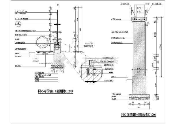 经典省钱的钢结构玻璃围墙栏杆施工图一套