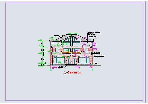 某农村三层砖混结构双拼别墅建筑设计施工图