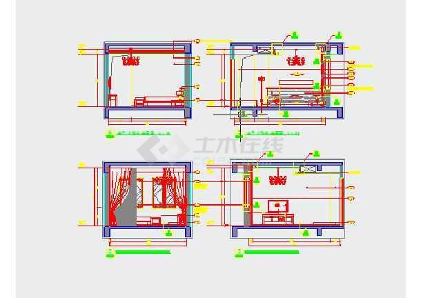 层复式楼建筑装饰设计施工图  简介:图纸内容包括:一层二层原始结构图