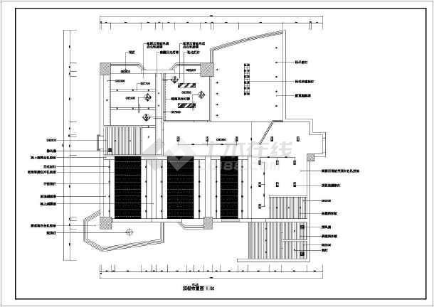某广告公司室内装修设计cad图纸-竖向设计cad图纸免费下载