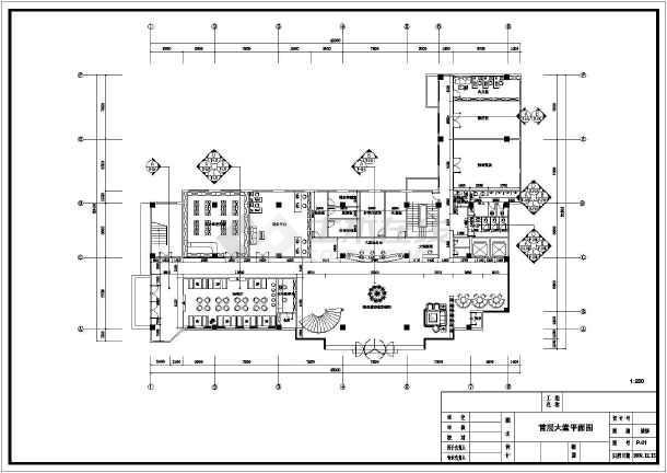某地框架结构酒店大堂室内装修设计施工图