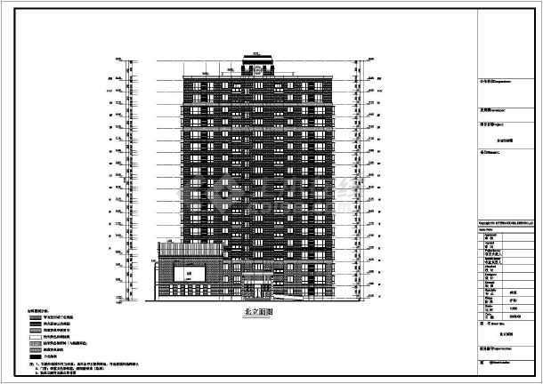 某地带三层裙房高层建筑方案设计图
