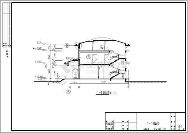 某地两层带阁楼欧式别墅建筑设计施工图图片