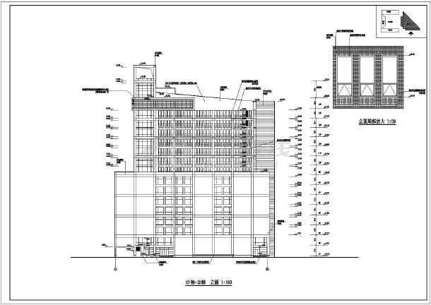 某地16层框架结构办公楼建筑设计方案图