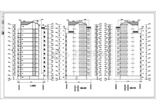 某小区多套小高层住宅楼建筑施工图纸