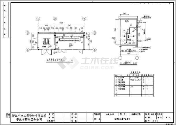 315kva配电室内高低压电气设计图