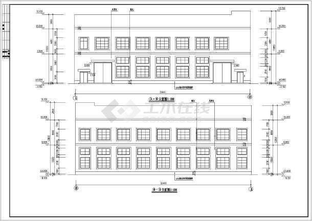 某2层框架结构木屋架厂房建筑施工图纸(含结构)图片1