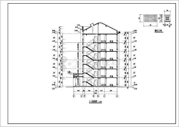 某地六层框架结构住宅楼建筑设计施工图