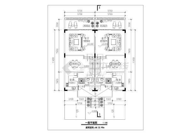 某地三层框架结构别墅建筑设计方案图纸
