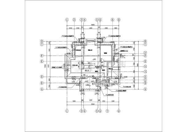 层欧式别墅全套建筑施工图纸  简介:法式风格的别墅建筑,本两层带闷顶