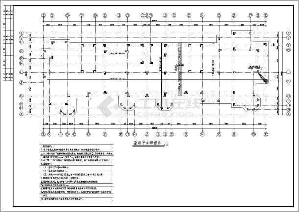某小区8层住宅异形柱框架结构全套结构施工图-图1