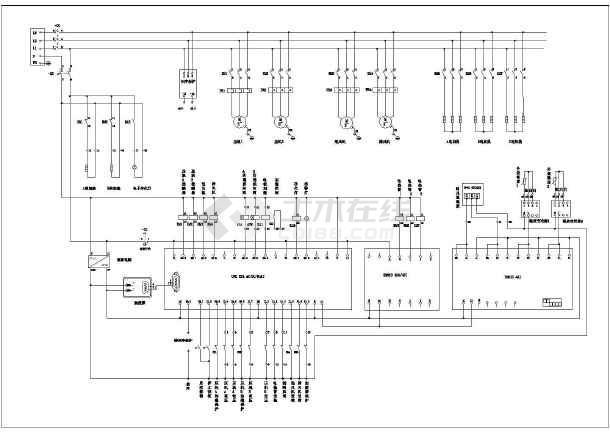 恒温恒湿空调机plc控制电气原理图图片1