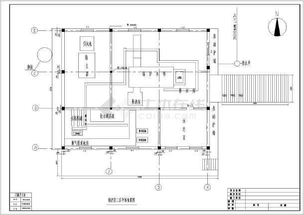 某地二层锅炉房建筑设计施工图(含结构设计)图片