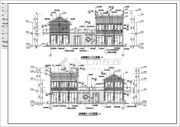 某地四套二层框架结构商业楼建筑设计方案