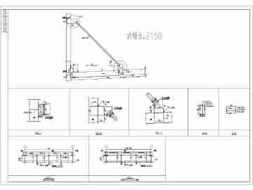 悬挑5m带斜拉杆钢雨棚结构施工图