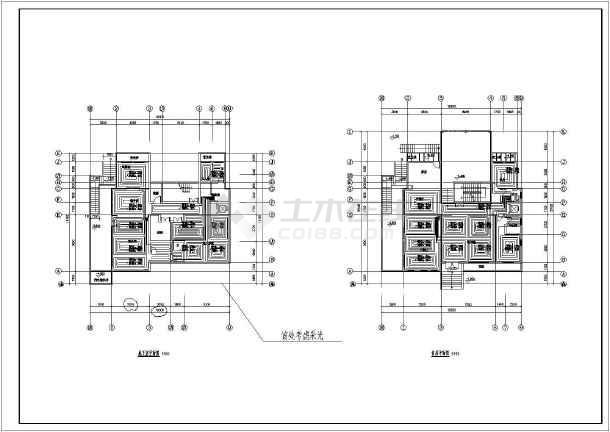 户式中央空调 水机户式中央空调设计图 某独栋别墅地源热泵地暖空调