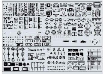 【cad常用】一些室内装饰及弱电牡丹cad图例字图例富贵的带格图纸图片