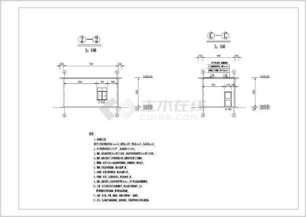 某地区小型泵站泵房建筑设计图