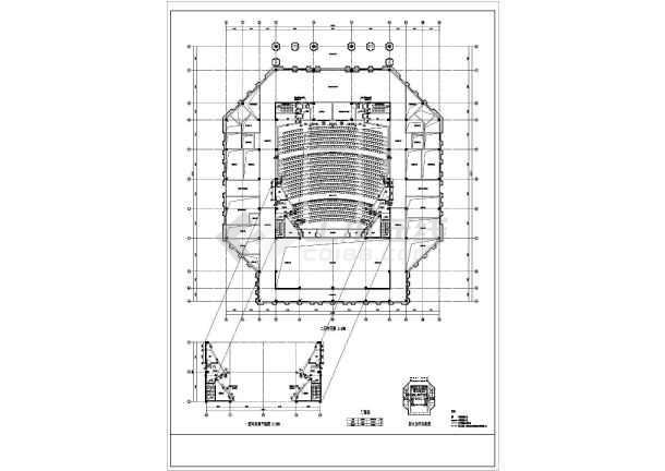 【内蒙古】某报告厅建筑施工图_cad图纸下载-土木在线