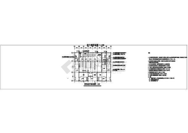 【温州市】某建筑防雷平面和接地平面图