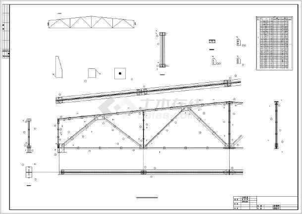 【江苏】某厂房钢屋架结构设计施工图图片1