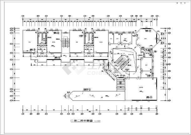 某幼儿园的教室平面建筑设计图(cad图)