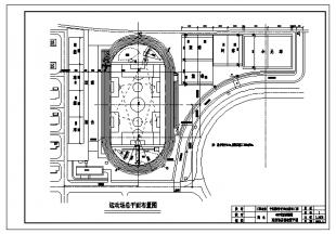400米尺寸及篮排球场设计施工图纸图纸倍数跑道加长图片