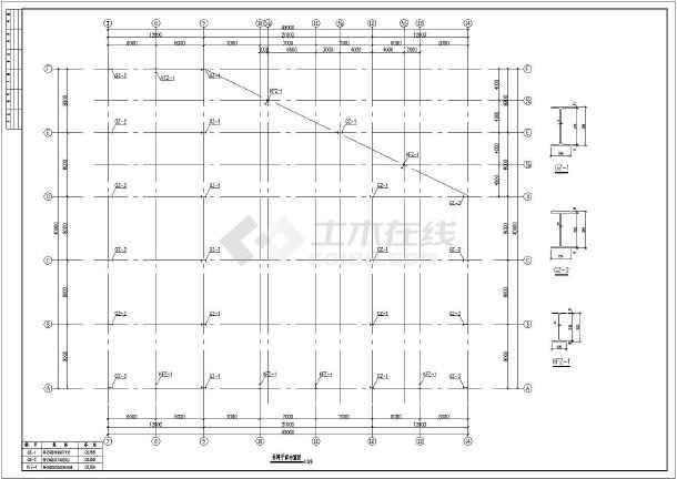 某地三联跨钢结构厂房设计施工图纸