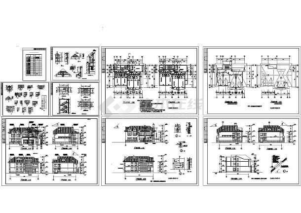 3套完整的小別墅建筑設計施工圖紙
