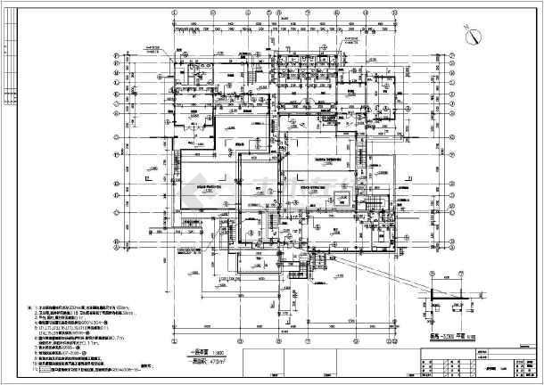 某旅游度假区两层框架结构别墅建筑设计施工图