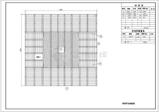 某地45米雷达支架角钢(图纸塔)施工图_cad图纸卡爪木风天线图片