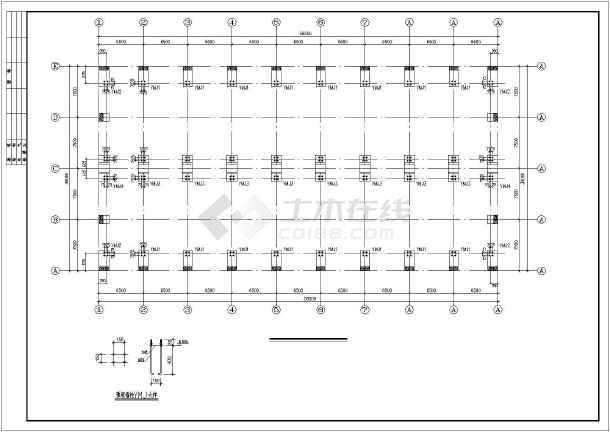 某地单层框排架结构厂房结构施工图