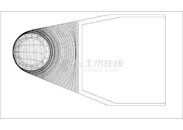 某水电站厂房尾水管三维模型设计图-图1
