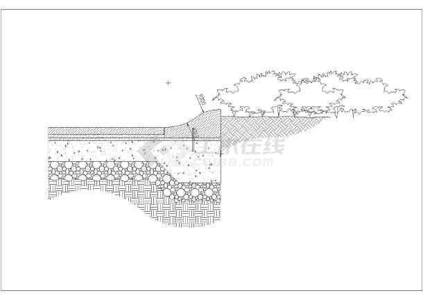 某地区广场,廊亭 ,路牙设计施工详图