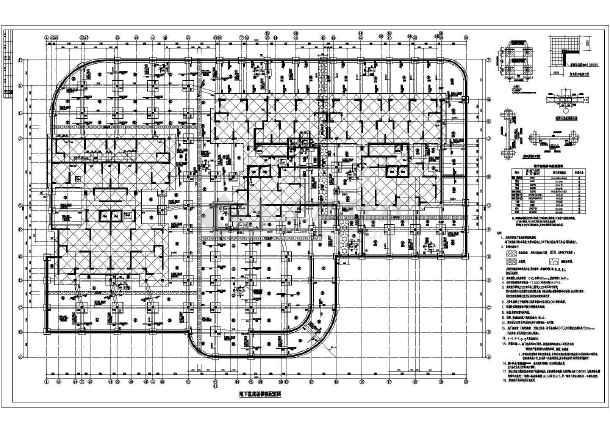 湖南省某高层图纸浮筏抗钢筋出来板基础设计图微信里cad锚杆建筑怎么打印图片