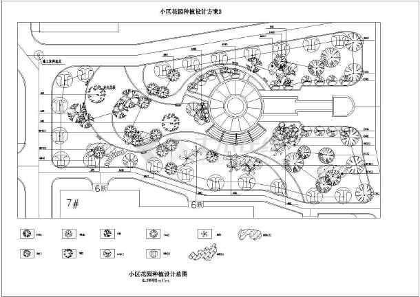 某小区园林景观规划设计植物配置图