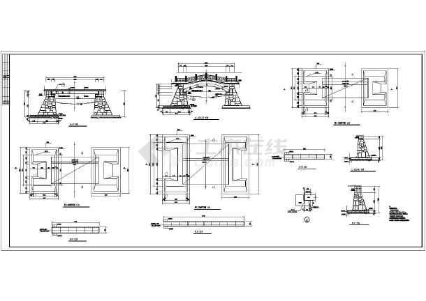 某地区小区景观桥的建筑结构施工图