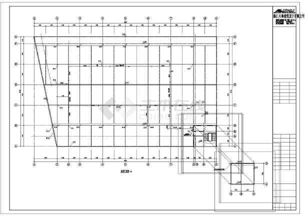 某四层砖混结构农贸市场给排水,消房工程设计图