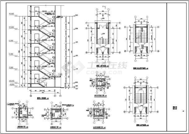 某地6层坡屋顶框架结构住宅施工图