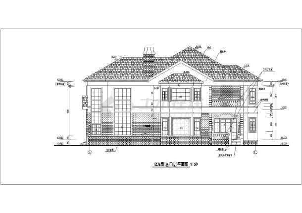 为某地两层轻钢结构别墅建筑设计方案图纸,该图纸包括:筑各层平面图