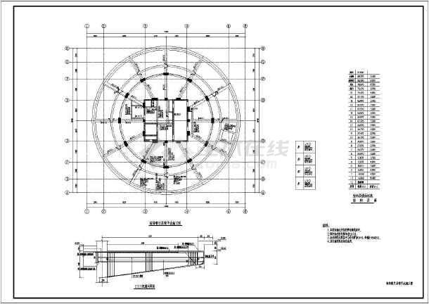21层带屋面旋转餐厅商务大楼结构图