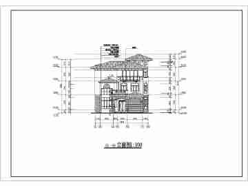 南方某地区三层别墅建筑设计施工图
