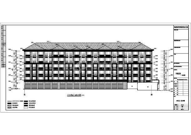 某小区6层框架结构住宅楼建筑设计方案图