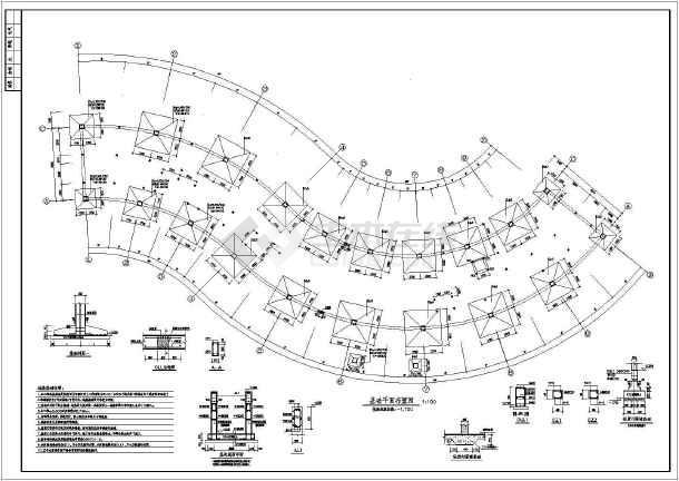 某地s型三层酒店框架结构图