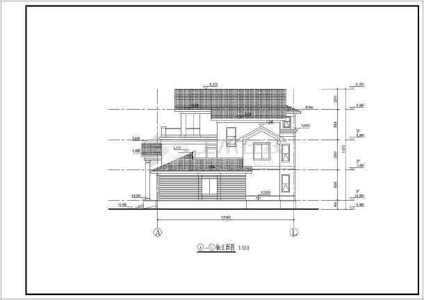 某三层楼别墅建筑结构设计施工图纸