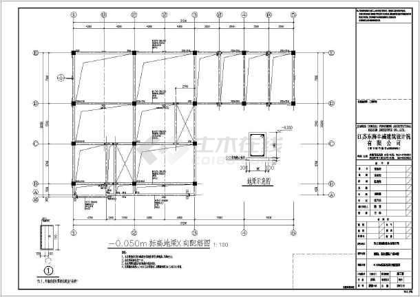 青岛某4层层酒店建筑结构全套施工设计图