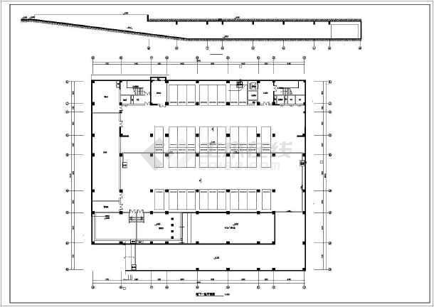某地13层框架结构审判法庭建筑设计图