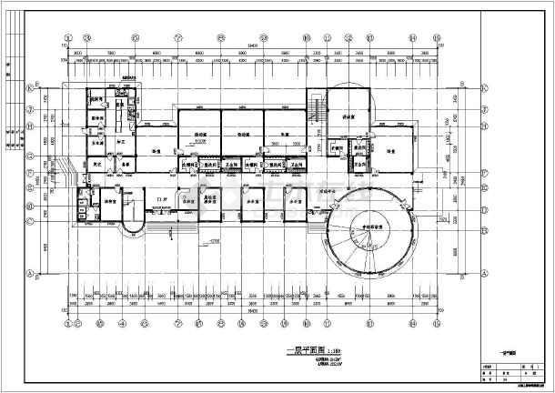 某三层框架结构9班幼儿园建筑设计方案图纸